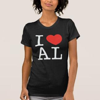 i love alabama black tshirt