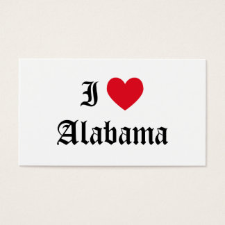 I Love Alabama Business Card