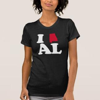 I LOVE ALABAMA- CLASSIC - Map Design -.png T-shirt