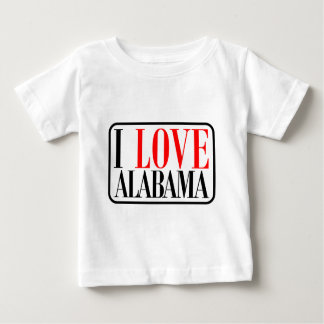 I Love Alabama Design Tee Shirt