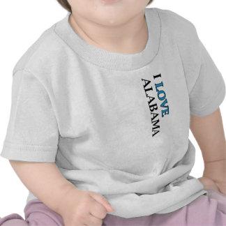 I Love Alabama Design Shirts