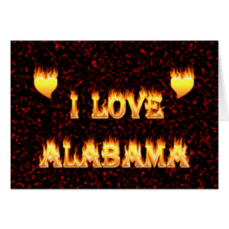 I love alabama fire and flames greeting card