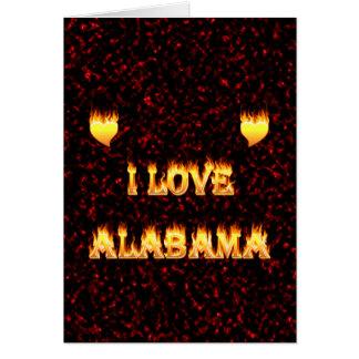 I love alabama fire and flames greeting card