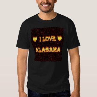 I love alabama fire and flames tshirts