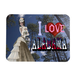 I Love Alabama Flexible Magnet