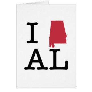 I Love Alabama Greeting Card