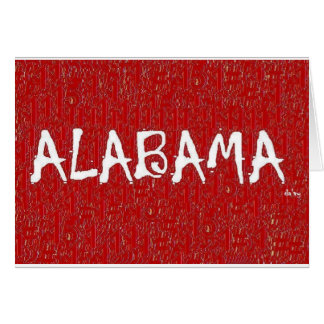 I Love Alabama Greeting Card By:da'vy