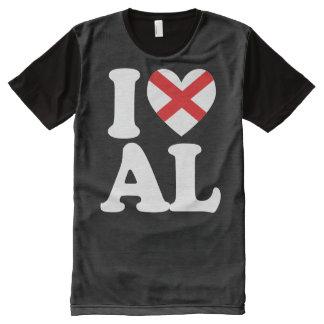 I LOVE ALABAMA Heart Design -.png All-Over Print T-Shirt