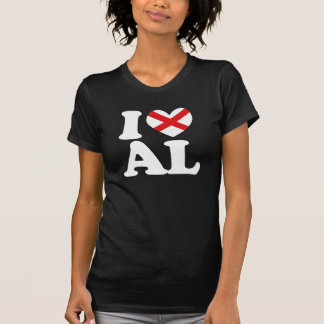 I LOVE ALABAMA Heart Design -.png T Shirts