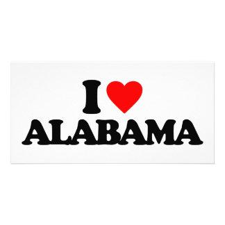 I LOVE ALABAMA PHOTO GREETING CARD