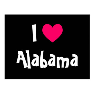 I Love Alabama Postcard
