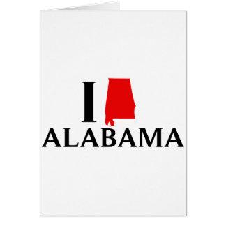 I Love Alabama State Greeting Card
