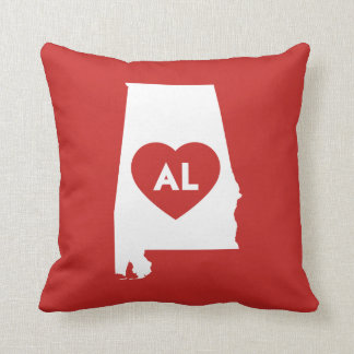 I Love Alabama State Throw Pillow