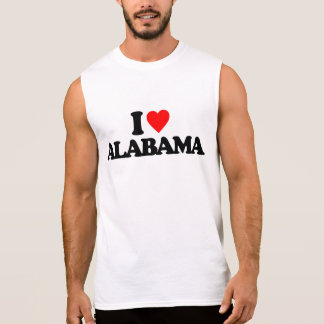 I LOVE ALABAMA SLEEVELESS SHIRTS