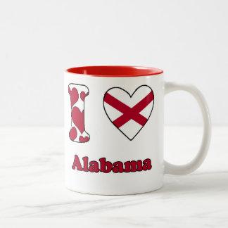 I love Alabama Two-Tone Coffee Mug