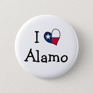 I Love Alamo 6 Cm Round Badge