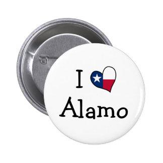I Love Alamo 6 Cm Round Badge