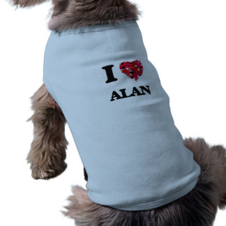 I Love Alan Sleeveless Dog Shirt