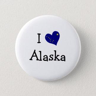 I Love Alaska 6 Cm Round Badge