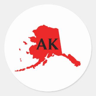 I Love Alaska -  AK Round Sticker