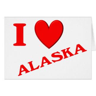 I Love Alaska Greeting Cards