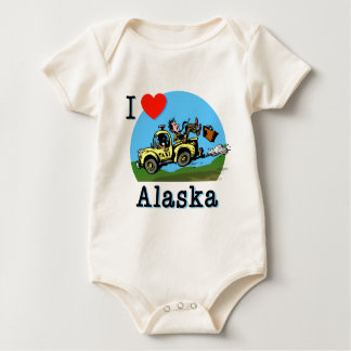 I Love Alaska Country Taxi Baby Bodysuit