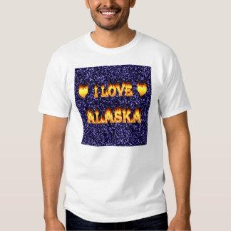 I love alaska fire and flames t-shirts