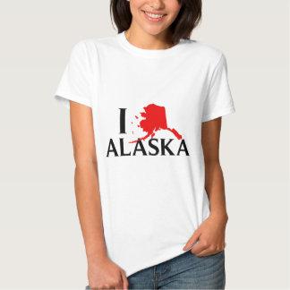 I Love Alaska - I Love AK State Shirts