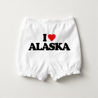 I LOVE ALASKA NAPPY COVER