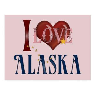 I Love Alaska Post Card