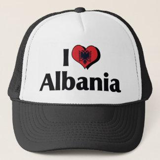 I Love Albania Flag Trucker Hat