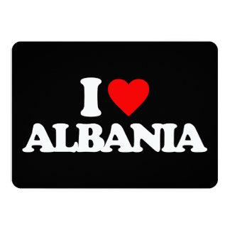 I LOVE ALBANIA 13 CM X 18 CM INVITATION CARD