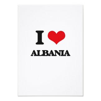 I Love Albania Customized Announcement Card