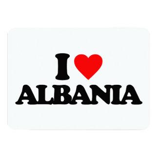 I LOVE ALBANIA PERSONALIZED INVITATIONS