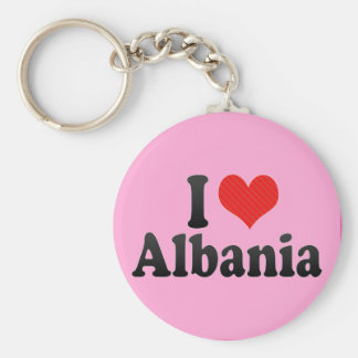 I Love Albania Key Chain