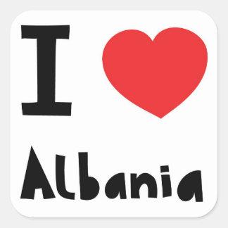 I love Albania Square Sticker