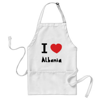 I love Albania Standard Apron