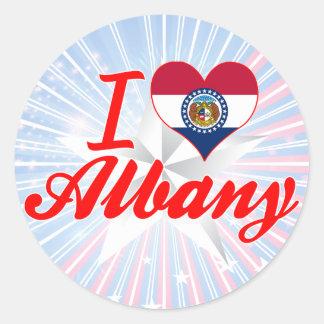 I Love Albany, Missouri Stickers
