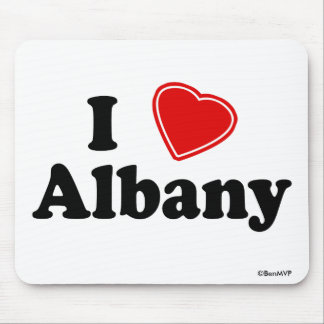 I Love Albany Mouse Pad
