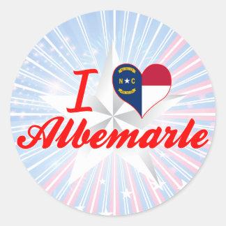 I Love Albemarle, North Carolina Round Sticker