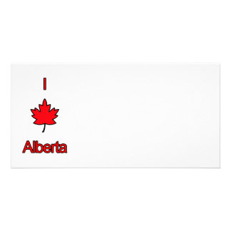 I Love Alberta Photo Greeting Card