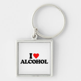 I LOVE ALCOHOL KEY CHAINS