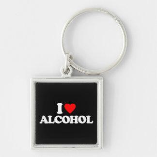 I LOVE ALCOHOL KEY CHAIN