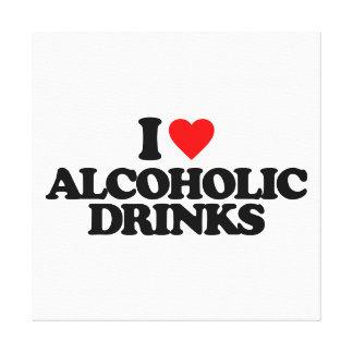 I LOVE ALCOHOLIC DRINKS CANVAS PRINT