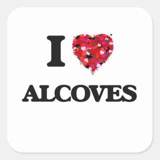I Love Alcoves Square Sticker