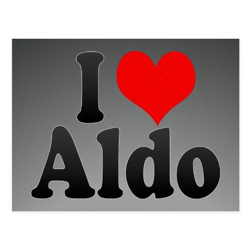 I love Aldo Postcard
