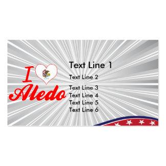 I Love Aledo, Illinois Business Card