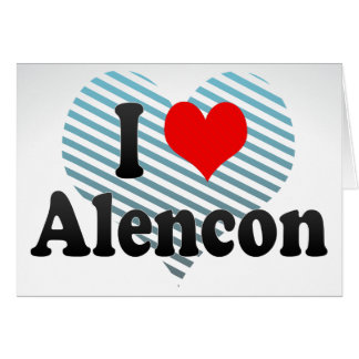 I Love Alencon, France Card