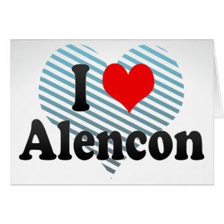 I Love Alencon, France Note Card