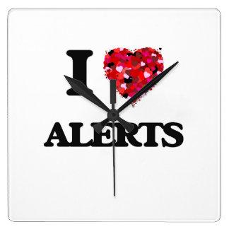 I Love Alerts Wall Clocks